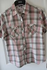 "M & CO Ladies checked blouse ""size 14/16 . summer/holidays.( Made in India )"