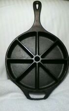 "VINTAGE CAST IRON ""LODGE"" 8 SECTION SKILLET"
