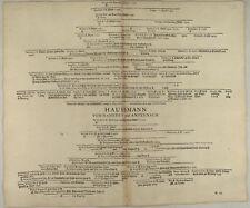 von BRAUNSBERG Orig Stammbaum 1707 MITTELALTER Ritter Adel Hausmann HAUSSMANN