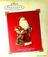 Hallmark 2003 Keepsake Ornament GIFTS FOR EVERYONE, A VISIT FROM SANTA, # QP1409