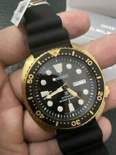 New Seiko SRPC44 Turtle Prospex Automatic Diver Gold Tone Silicone Strap Watch