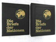 2 x ALBUM leer - Die Briefe der Nationen - für Numisbrief - schwarz - gebraucht