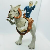 Vintage 1980 Star Wars Open Belly TaunTaun w/ Saddle + Han Solo Hoth Figure Lot