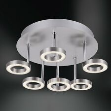 Wofi Plafonnier Led Naomi 6 Lampes Nickel Chrome Intensité Variable 30 Watt 2580