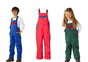 PLANAM - Kinder Latzhose, Arbeitshose - günstige Kinderhose aus Baumwolle