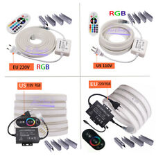 RGB Neon Light Ribbon Tape Flexible 2835 5050 120LEDs/m  Remote 24Key 110V 220V