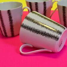 """KPM Farso Denmark Static Pattern 4- Black White Espresso/ Tea Cups 3"""""""