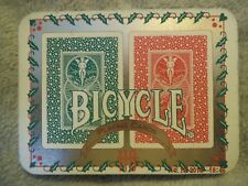 RARE 1995 BICYCLE HOLIDAY PLAYING CARDS 2 DECKS COLLECTIBLE TIN 110 ANNIVERSARY