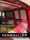 Camper Van Insulation Foam Foil 10m Roll Sound Proofing Home Landrover Vw T5 T6