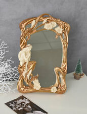 Vanity Mirror Nymph Mirror Female Figure Wall Mirror Deco Mirror with Stands
