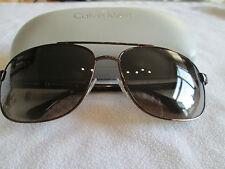 Calvin Klein bronze / brown tortoiseshell frame sunglasses. CK 1211SK. With case