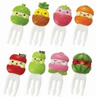 Torune Lunch Bento Food Fork Picks 8pcs Fruits Melon Apple Peach (P-3124)