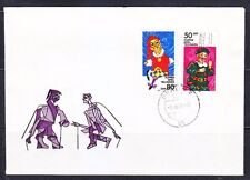 Germany DDR 1984 FDC cover Mi 2876-2877 Sc 2414-2415 Marionette & Puppet
