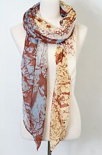 Root/Vein Two Tone Scarf,  beach scarf
