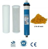 L3 4 Stage Reverse Osmosis pre filters RO & DI Resin Replacement Membrane