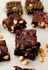 "☆Ultimate Choc Experiene!☆Ultimate Fudge Brownies w/Peanut Butter Chips ""RECIPE☆"