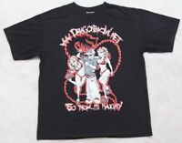 Dragon Graphic Tee T-Shirt Top Black Hanes Medium Cotton Poly Crewneck Solid