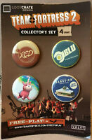 Team Fortress 2 Collector's Set - 4 Pins Lootcrate Exclusive Valve