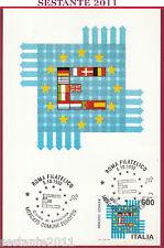 ITALIA MAXIMUM MAXI CARD MERCATO COMUNE EUROPEO 1992 ANNUL. ROMA FILATELICO C555