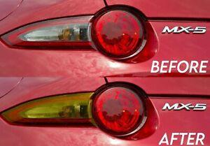 Transparent Yellow Turn Signal Tail Light Overlay for 2015+ Miata MX5