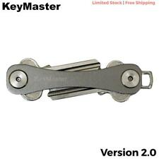 SMART KEY MASTER 2.0 KEY COMPACT ORGANIZER FOLD HOLDER POCKET RING GREY