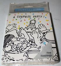 Vintage Surprise Party Invitations - Carlton Cards 8 pack plus guest checklist