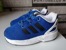 buy popular 19580 6c536 Nouvelle annonceToddler boys infant ADIDAS TORSION ZX Flux Baskets UK  4 20EU Bleu Noir Blanc