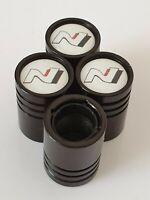 HYUNDAI N logo Riesige Staubschutzkappen aus Metall mit Kunststoff-Innenseiten
