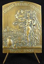 Médaille Allégorie de Marseille 1903 XXIX e fête Gymnastique sport J Latil Medal