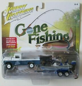 JOHNNY LIGHTNING GONE FISHING S2 1959 FORD F-250 w/BOAT & TRAILER #3 A 1/2,004