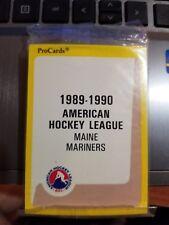 1989-90 Pro Cards AHL Maine Mariners Hockey Team Set Sealed