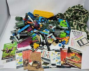 Vintage 1980s Construx By Fisher Price Lot Assorted With 4 Manuals 5 pounds