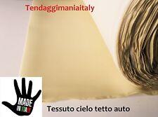 TESSUTO CIELO AUTO TETTO INTERNO AUTOMOBILE TETTUCCIO AUTO COLORE BEIGE