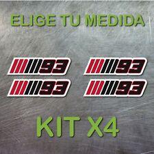 4x PEGATINA MARC MARQUEZ  NUMERO 93 MM93 MOTOGP GP VINILO STICKER DECAL NEGRO