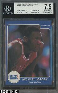 1985 Star Lite All-Stars Basketball #4 Michael Jordan RC Rookie HOF BGS 7.5