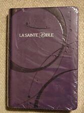 French Bible, Louis Segond 1910,  Purple,  Imitation Leather, La Sainte Bible