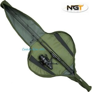 NGT 130cm Long Carp Fishing Padded Rod Bag Holdall Sleeve For Made Up 8ft Rods