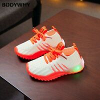 Toddler Shoes Sneakers Kid Candy Color Led Luminous Sport Run Sneaker