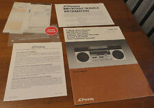 VINTAGE JC PENNEY 5 MODE STEREO SYSTEM BOOMBOX OWNERS MANUAL MODEL 1968 papers