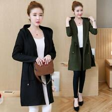 Fashion Womens Hooded Coats Cardigan Knitted Sweater Korean Loose Jacket Outwear