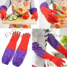 1 Pair Silicone Dish Washing Gloves Kitchen Long Silicone Rubber Gloves
