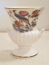 "Wedgwood Miniature 3.5"" Urn - Vase Kutani Crane Design Gold Trim, Pristine!"