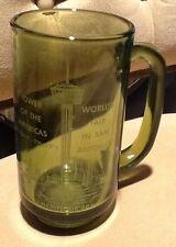 Hemisfair 1968 Souvenir Green Glass Beer Mug, Rare! - REDUCED
