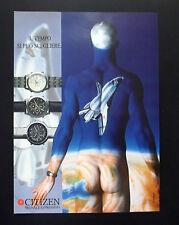 F138 - Advertising Pubblicità - 1992 - CITIZEN SEGNALE ESPRESSIVO