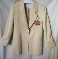 Dana Buchman 100% Silk Blazer w/Beading  Sz 8  Vintage