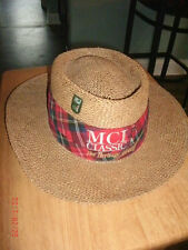 MCI Classic Golf Vintage Straw Hat Cap Size XL Free Shipping!
