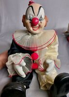 "Jui Shan Vintage 20"" porcelain clown doll"