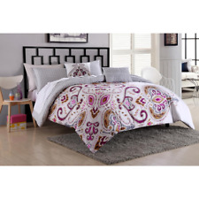 Essential Home (5-Piece) Comforter Set-Paisley Medallion Size: Full/Queen