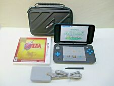 Nintendo New 2DS XL Black & Turquoise JAN-001 w/ Zelda Game + Case ADULT OWNED