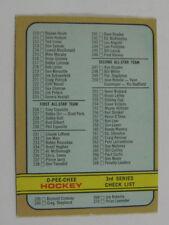 1972-73 OPC O-Pee-Chee Unmarked Checklist #334 Ex+